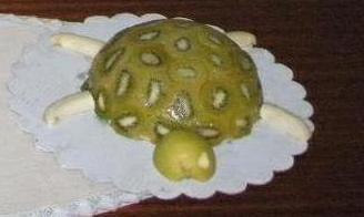 Jablková kiwi korytnačka